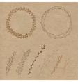 Set of decorative doodle wreaths vector image