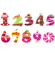 Sweet numbers vector image