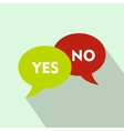Yes No bubbles icon flat style vector image vector image
