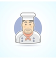 Chief cook icon Avatar and person vector image