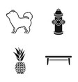dog hydrant and other web icon in black style vector image