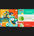 flat concept banners vector image