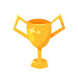 golden winner cup vector image