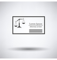 Lawyer business card vector image