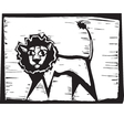 Lion Print vector image