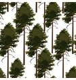 seamless pattern tree pine vector image