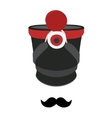 Shako hat and mustache vector image