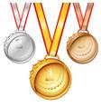 sports medals set vector image