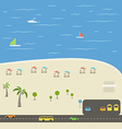 Summer season beach vacation vector image