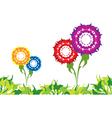 flower border vector image
