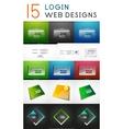 mega set of login web design elements vector image