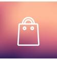 Shopping bag thin line icon vector image