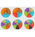 circle elements set for infographic vector image