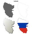 Donetsk blank outline map set - Russian version vector image vector image