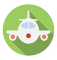 Airplane icon flat style vector image