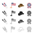 america holiday celebration and other web icon vector image