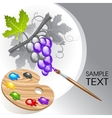 coloring the grape vector image