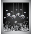glass Christmas balls vector image