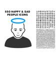 holy man icon with bonus vector image