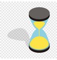 hourglass clock isometric icon vector image