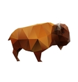 Polygonal Buffalo vector image