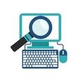 computer search icon design vector image