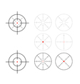 Crosshairs vector image vector image