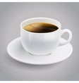 white coffee cup vector image