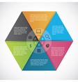 Infographics hexagon paper vector image vector image