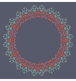 ornamental round lace with damask and vector image