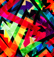 grunge maze seamless pattern vector image