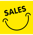 Sales smile advertising card vector image