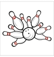Bowling team or club emblem vector image