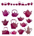 kettle tea vector image vector image
