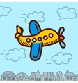 airplane cartoon vector image vector image