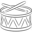Drum vector image