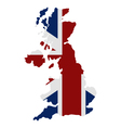 map of great britain with flag vector image