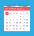 march calendar template vector image