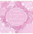 Wedding card on the grunge paper background vector image
