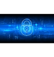 Digital information security concept with lock vector image vector image