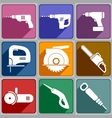 Icons of the electric tools vector image vector image