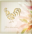 Rooster background vector image