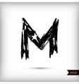 Calligraphic watercolor letter M vector image