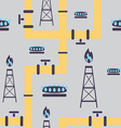 seamless pattern gas industry vector image