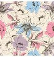 Floral seamless pattern lilies and poppy print on vector image vector image