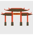 Classical East architecture gate vector image