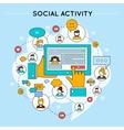 Social Network Activity Design vector image
