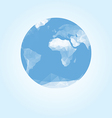 Blue earth globe made with triangles vector image