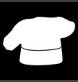 chef cooking hat icon vector image