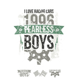 Emblem of the fearless riders boys in retro style vector image